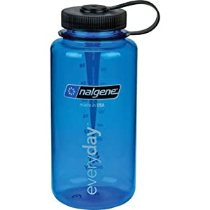 Amazon.com : Nalgene Wide Mouth Water Bottle: 32oz Blue ...