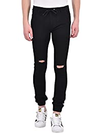 ANSH FASHION WEAR Men's Rugged Joggers - Contemporary Regular Fit Denim Jogger Pants For Men - Distressed Joggers...