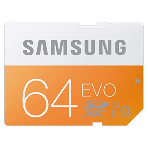 SDカード 64GB SAMSUNG EVO Class10 UHS-I対応 (最大転送速度48MB/s) 10年保証 MB-SP64D/FFP 【日本サムスン正規品】