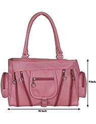 Kacey::Kacey Pink Shoulder Bag::Kacey Shoulder Bag::Plain Shoulder Bag::Women Shoulder Bag::PU Shoulder Bag::Casual...