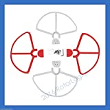 Rotor Logic Quick Release Propeller Guard Fits Dji Phantom 3 And 2 Series Snap On/Off 4 Pcs(2 Red+2 White) Prop...