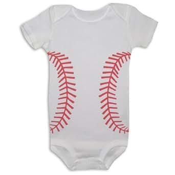 Amazon.com: Bambino Balls Short Sleeve Baseball Outfit ...
