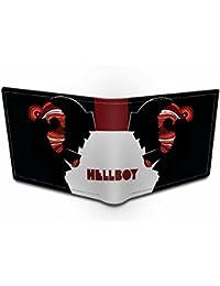 Ownclique Hellboy Genuine Leather Black Wallet Black Wallet