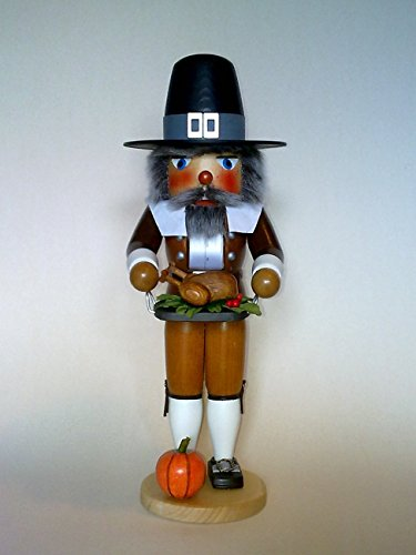 Pilgrim Man with Turkey Nutcracker