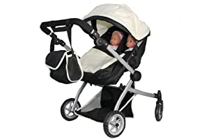 Amazon.com: Babyboo Deluxe Twin Doll Pram/Stroller (color