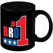 Mug For Brother - HomeSoGood Number One Brother Black Ceramic Coffee Mug - 325 Ml