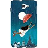 For Samsung Galaxy Note N7000 :: Samsung Galaxy Note I9220 :: Samsung Galaxy Note 1 :: Samsung Galaxy Note GT-N7000 Girl Fly With Umbrella ( Girl Fly With Umbrella, Rain, Girl With Umbrella, Rain, Moon, Star ) Printed Designer Back Case Cover By FashionCo