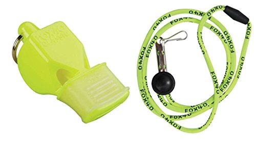Fox 40 Classic CMG Safety Whistle with Breakaway Lanyard Neo