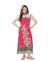 Stylish Dress With Cotton Top And Cotton Bottom And Naznin Dupatta - B0191QR5E2