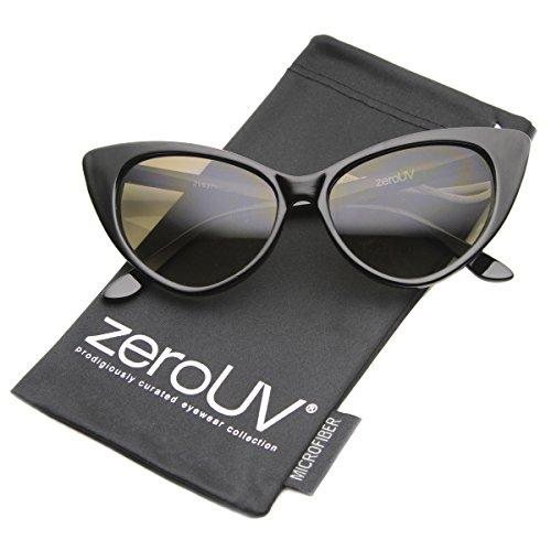 zeroUV Womens ZV-8371d Wayfarer Sunglasses, Black, 54 mm