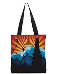 Snoogg Beautiful Landscape Background Designer Poly Canvas Tote Bag