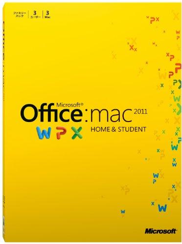Microsoft+Office+for+Mac+Home+and+Student+2011+ファミリーパック+[パッケージ]+(PC3台%2F1ライセンス)