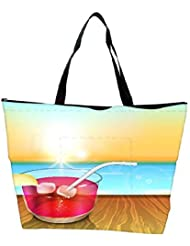Snoogg Abstract Summer Background Waterproof Bag Made Of High Strength Nylon - B01I1KMGIO