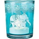 Vintage Glass Candle Holder (elephant design)