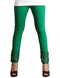 PI World Green Lace Plazzo Legging( Viscose Lycra-4 Way Stretchable)