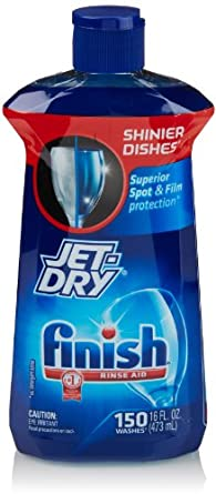 Amazon.com: Finish Jet Dry Dishwasher Rinse Aid, 16 Ounce