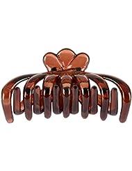 Jasmine Fashion Accessories Brown Plastic Hair Clip For Women (AM)