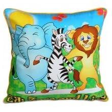 Swayam Kids N More Digital Print Mercerised Cotton Kids Cushion Cover Set - Multicolor (KCC 162-105)