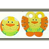 Gubbarey Teethers : Lion / Tortoise Shaped Plush Comfortable Teethers With 1 Free Thermometer Strip (lion)