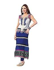 Stylish Dress With Cotton Top And Cotton Bottom And Naznin Dupatta - B0191QR2KO
