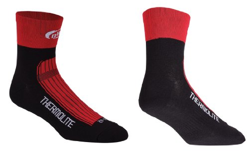 BBB Thermofeet BSO-11 - Chaussettes de vélo d'hiver, rouges, taille 39-42