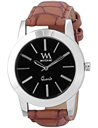 WATCH ME BLACK BROWN LEATHER ANALOG WATCH FOR MEN AND BOYS WM-025-B