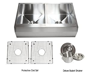 angled kitchen sink 36 inch stainless steel well angled front farmhouse apron 1252