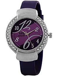 WATCH ME SILICON RUBBER MULTICOLOR PINK RED GOLD SILVER WATCH FOR WOMEN AND GIRLS WM-100-PR