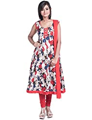 Cynthia's Fashion, CFK293_COT_AK_SS_DP5, Cotton Printed, Anarkali Salwar Suit With Cotton Churidar Or Churi Leggings...