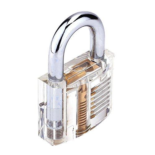 G2PLUS Transparents Schloss Schlössern Vorhängeschlösser Übungsschloss mit 2 Stabilen Schlüsseln für Schlosser Anfänger - 3