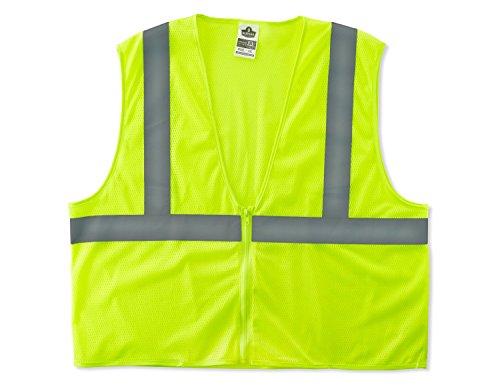Ergodyne GloWear® 8205Z Class 2 Super Economy Vest, Lime,4XL/5XL