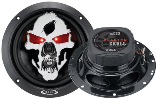 BOSS AUDIO SK653 Phantom Skull 6.5″ 3-way 350-watt Full Range Speakers