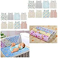 First Step New Born Baby Gift Pack Jhabla 8 Pcs And 4 Plastic Changing Sheet With One Sided Cloth(Assorted)(0-... - B01GVBR3RE