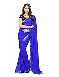 Deepika Padukone In Blue Designer Saree