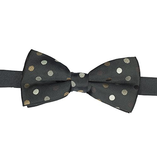 The Bro Code Black With Brown And Golden Polka Dots Bow Tie