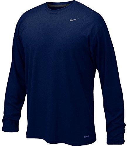 NIKE Mens Legend Poly Long Sleeve Dri-Fit Training Shirt Col