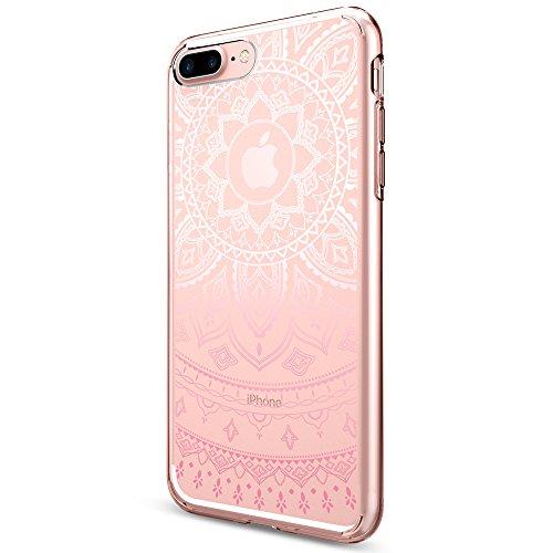 Coque iPhone 7 plus, Spigen® [Liquid Crystal] Ultra-Thin [Shine Pink] Premium Semi-transparent / Exact Fit / NO Bulkiness Soft Housse Etui Coque Pour ...