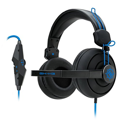 ENHANCE GX-H3 Stereo Gaming Headset With Over-Ear Headphones , Adjustable Mic & In-Line Volume Control - Works...