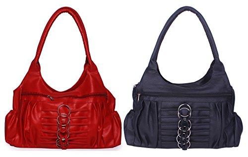 Arc HnH Women Combo Handbag Magnificent - Red+Black