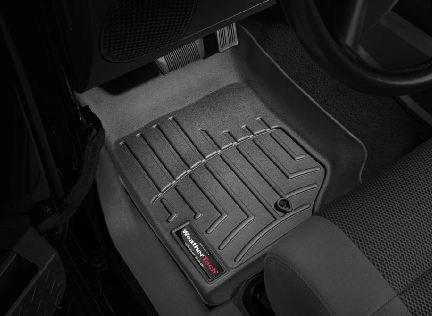 2007-2013 Jeep Wrangler Unlimited Black WeatherTech Floor Liner (Full Set)