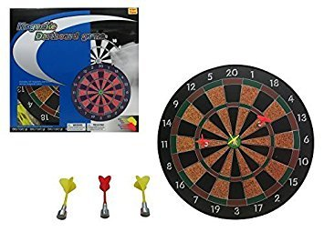 G2BD MAGNETIC DART BOARD GAME W/ 6 DARTS 16- Official Size