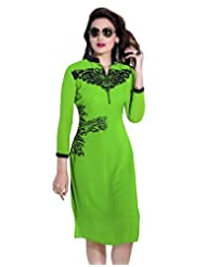 Surat Tex Green Color Faux Georgette Party Wear Embroidered Kurti-E339KI1001SMXL