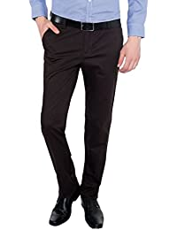Only Vimal Men's Dark Grey Slim Fit Cotton Chinos - B01H1XLYY4