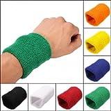 Unisex Sports Cotton Wrist Sweatbands Hand Wrap Tennis Badminton Band