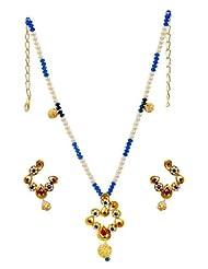 Kshitij Jewels Metal Pendant Necklace Set For Women (KJ 161)