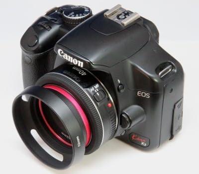 【F-Foto】 クラシックメタルレンズフード ブラック 52mm  『各社対応 ライカ風メタルフード』