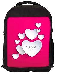 Snoogg Be My Valentine Backpack Rucksack School Travel Unisex Casual Canvas Bag Bookbag Satchel