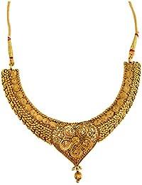 Graykart Traditional Flower Design Jewellery Set With MangTikka For Women