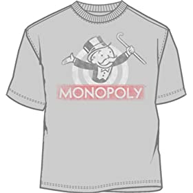 Click to order silver Monopoly Guy logo T-shirt from Amazon!
