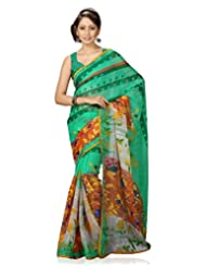 FadAttire Pure Chiffon Printed Saree With Blouse FASZS05